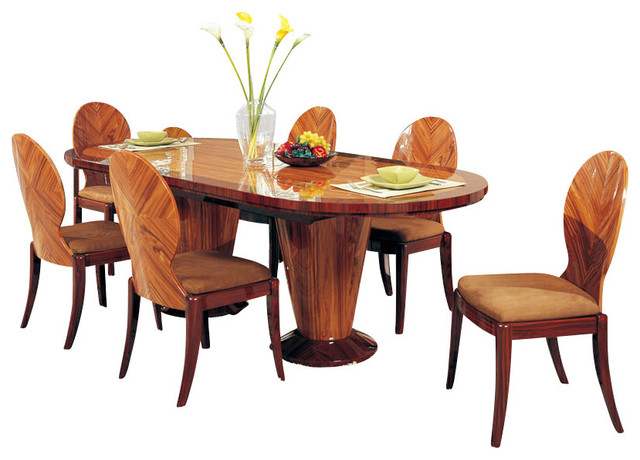 extension oval dining room set in kokuten traditional dining sets