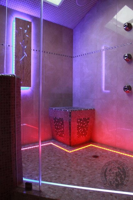 Wall Light For Steam Room : Steam-room - Contemporary - san francisco - by Zeus Remodeling