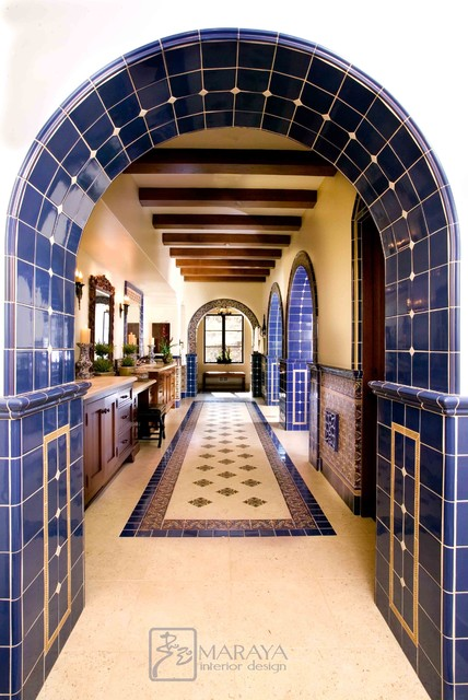 Malibu Tile Master Bathroom mediterranean bathroom