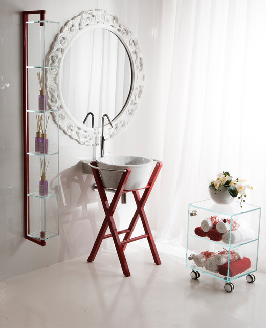Funky bathroom console in red by Moda