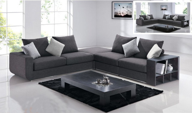 Modern Gray Sectional Sofa Modern Sectional Sofas