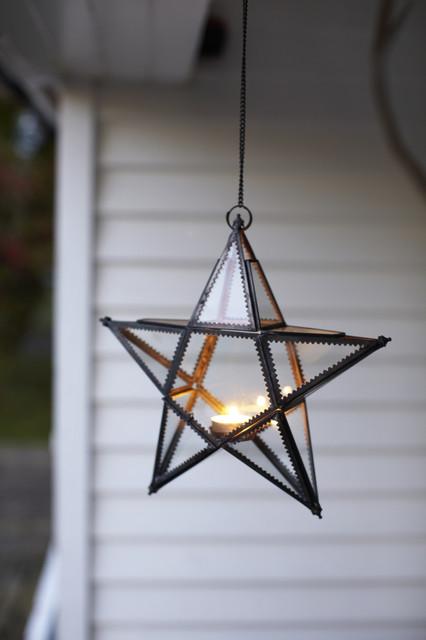 Modern Outdoor Lighting Design: Star Candle Holder