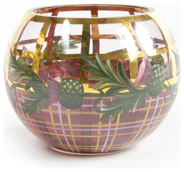 Thistle Glass Globe Vase - Small | MacKenzie-Childs eclectic-vases