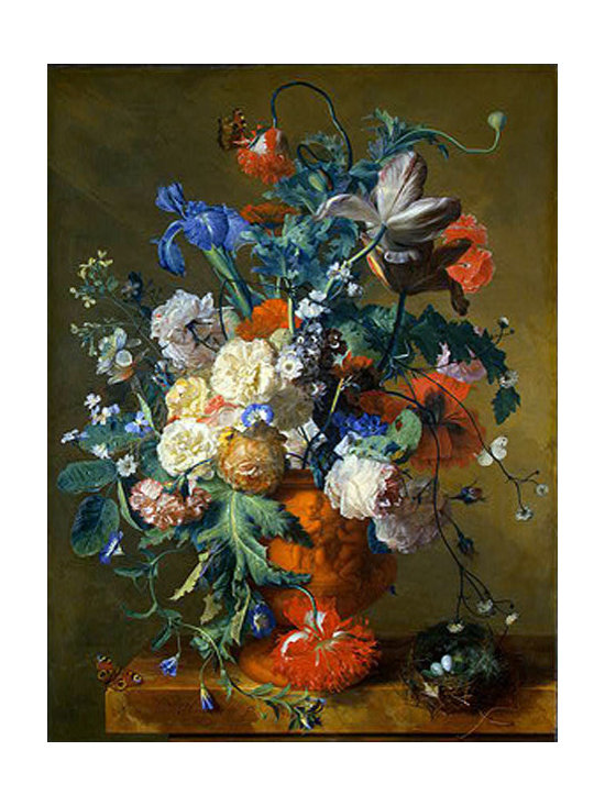 Flowers in an Urn, c.1720 | Huysum | Canvas Print - Condition: Canvas Print - Unframed