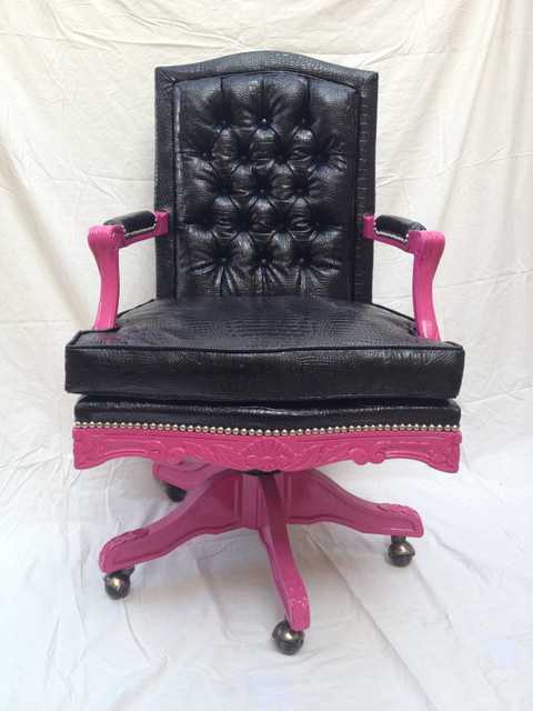 Pretty In Pink Chair By Bluesofastudio Eclectic Office
