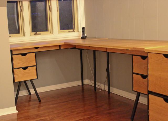 DANish Cherry Executive Desk industrial-desks