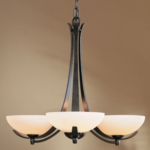 Aegis Three Arms Chandelier by Hubbardton Forge modern-chandeliers