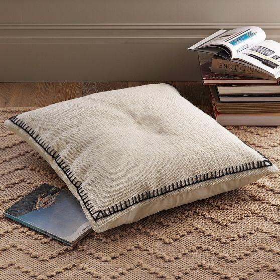 new border stitch floor cushion cover modern