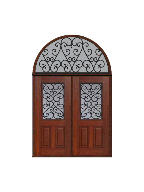 "Prehung Transom Double Door 80 Fiberglass Palermo 1/2 Lite GBG Glass - SKU#    MCT012WP_DFHPG2-HRPGBrand    GlassCraftDoor Type    ExteriorManufacturer Collection    1/2 Lite Entry DoorsDoor Model    PalermoDoor Material    FiberglassWoodgrain    Veneer    Price    3925Door Size Options    2(36"")[6'-0""]  $0Core Type    Door Style    Door Lite Style    1/2 LiteDoor Panel Style    2 PanelHome Style Matching    Door Construction    Prehanging Options    PrehungPrehung Configuration    Double Door and Half Round TransomDoor Thickness (Inches)    1.75Glass Thickness (Inches)    Glass Type    Double GlazedGlass Caming    Glass Features    Tempered glassGlass Style    Glass Texture    Glass Obscurity    Door Features    Door Approvals    Energy Star , TCEQ , Wind-load Rated , AMD , NFRC-IG , IRC , NFRC-Safety GlassDoor Finishes    Door Accessories    Weight (lbs)    876Crating Size    36"" (w)x 108"" (l)x 89"" (h)Lead Time    Slab Doors: 7 Business DaysPrehung:14 Business DaysPrefinished, PreHung:21 Business DaysWarranty    Five (5) years limited warranty for the Fiberglass FinishThree (3) years limited warranty for MasterGrain Door Panel"