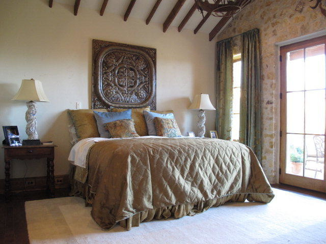 "Lubbock Parade of Homes ""Texas Tuscan"" by Dallas Design Group traditional-bedroom"
