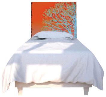 Blue Tree Headboard, Twin eclectic-headboards