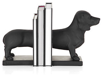Dachshund Bookends modern accessories and decor