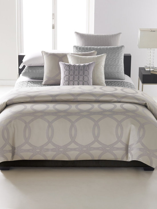 Hotel Collection Bedding, Calligraphy Collection - Artistic expression. Hotel Collection's Calligraphy bedding features fluid lines that form an allover arabesque design in soft, neutral tones. Decorative pillows feature opalescent beading and hints of metallic glimmer and quilted elements add extra dimension for a completely luxurious and sophisticated look. Only at Macy's.
