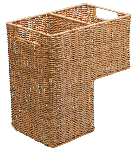 Wicker Step Basket farmhouse-baskets