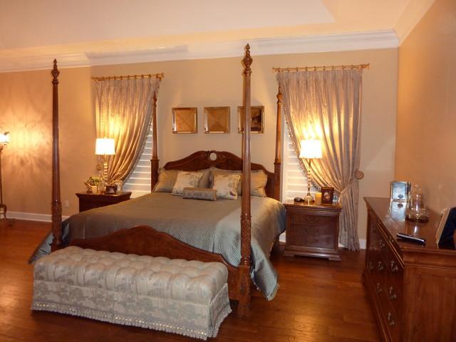 Elegant Bedroom Traditional Window Treatments Tampa