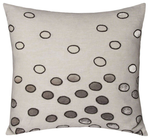 Ovals Decorative Pillow in Silver modern-decorative-pillows