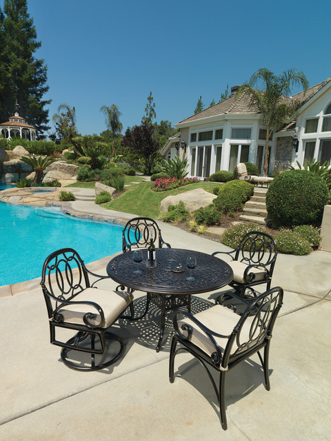 Gensun Casual Living Bellagio Dining traditional-patio-furniture-and-outdoor-furniture
