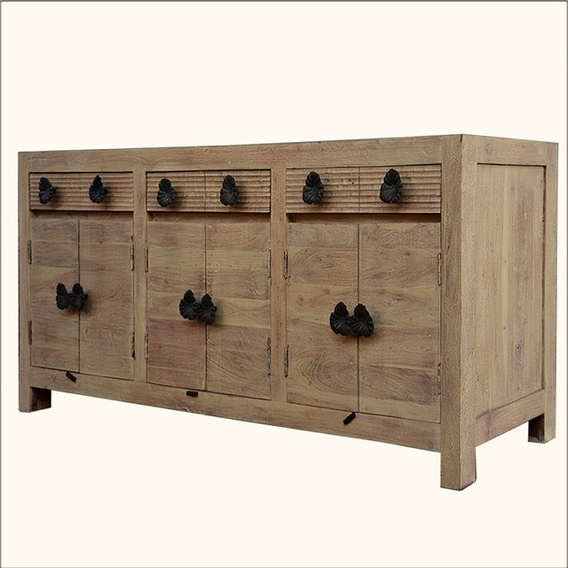 Black Wood Buffet Cabinet ~ Santa fe black orchid reclaimed wood cabinet sideboard