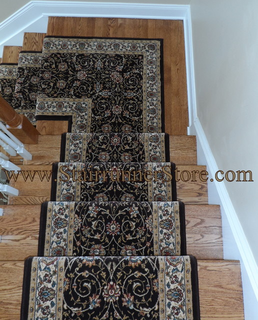 Stair Runner Landing Installations traditional-staircase