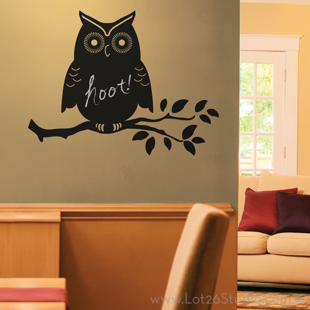 owl chalkboard wall decal wall decals san francisco by lot 26 studio inc. Black Bedroom Furniture Sets. Home Design Ideas