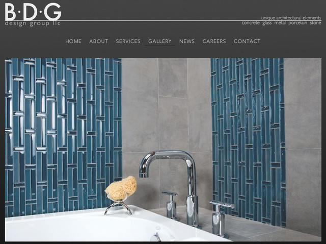 Blue Bamboo Styled Tiles