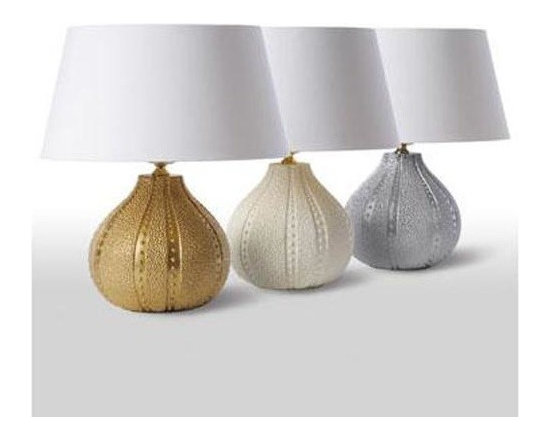 Barbara Cosgrove - Barbara Cosgrove The Collection Sea Urchin Table Lamp - The Collection Sea Urchin Table Lamp in Resin in Matt White, Gold Foil, or Silver Foil by Barbara Cosgrove. Available in gold, white, and silver.
