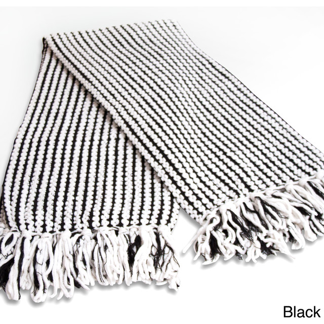 Wellington Chunky Woven Throw Contemporary Throws By