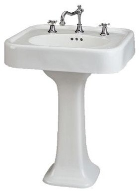 Liberty Pedestal in White Home Depot - Traditional - Bathroom Sinks ...