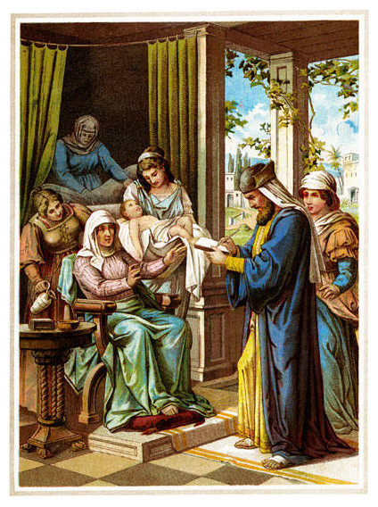 Baby Jesus in for a check up 28x42 Giclee on Canvas contemporary