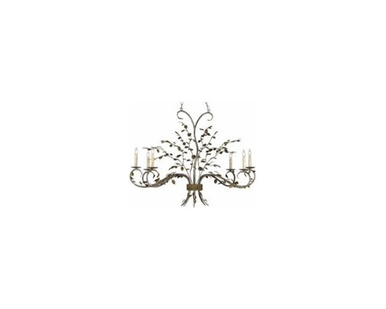 Currey and Company Raintree Oval Transitional Chandelier - CNC-9021 - Currey and Company Raintree Oval Transitional Chandelier - CNC-9021