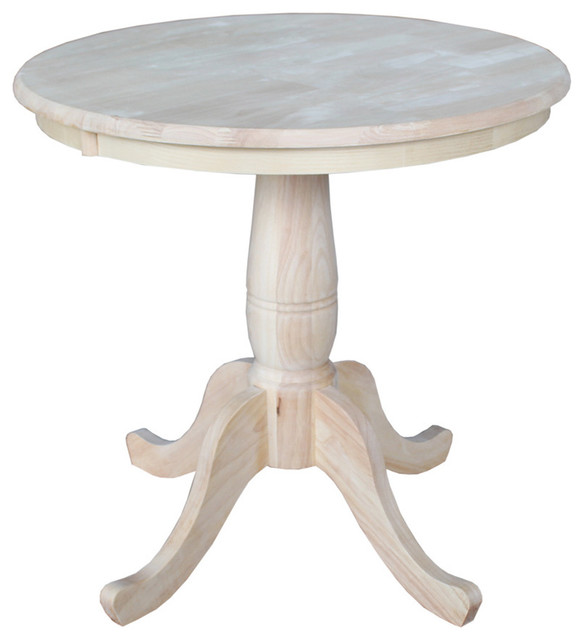 Unfinished 30 inch Round Pedestal Table Contemporary  : contemporary dining tables from www.houzz.com size 584 x 640 jpeg 41kB