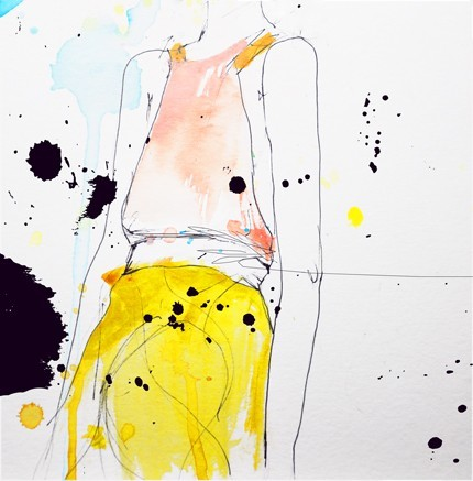 Figure Art Print by Leigh Viner contemporary artwork