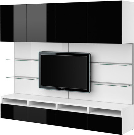 BESTÅ TV/storage combination - Scandinavian - Entertainment Centers And Tv Stands - by IKEA