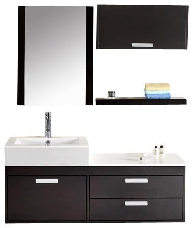 "Virtu USA 51"" Alicia Espresso Single Sink Bathroom Vanity Set modern-bathroom-vanities-and-sink-consoles"