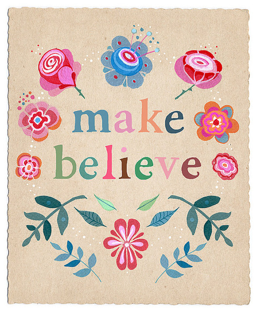 Make Believe Print by Lily Moon eclectic artwork