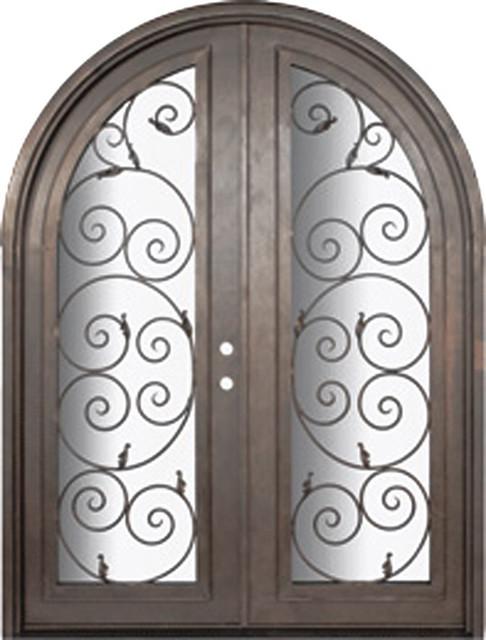 Orvieto 72x96 Round Top Forged Iron Double Door 14 Gauge Steel Mediterranea
