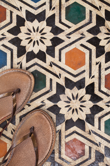 Encaustic tile floor-tiles