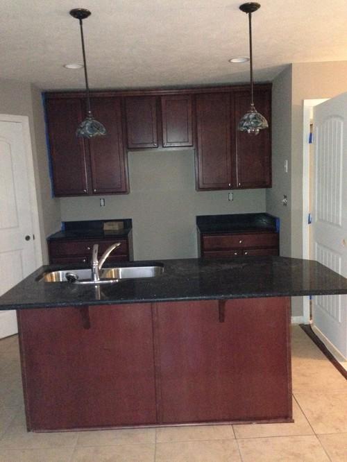 should 42 kitchen cabinets reach my 8 39 ceiling. Black Bedroom Furniture Sets. Home Design Ideas