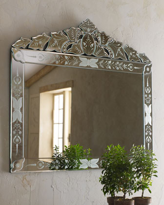"""Portinari"" Venetian-Style Mirror traditional-mirrors"