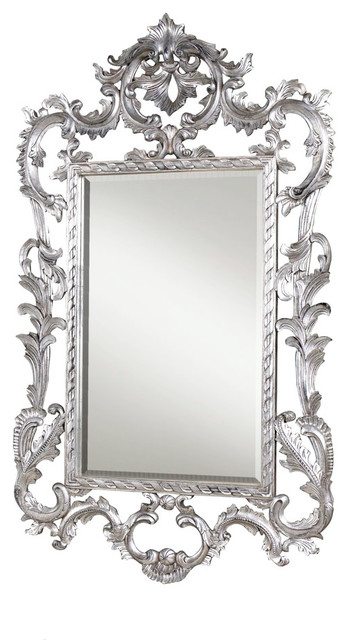 Louis XV Mirror, Silver Leaf traditional-mirrors
