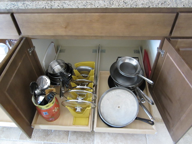 Under cabinet pull out shelves by slideoutshelvesllc.com - Traditional - Kitchen Drawer ...