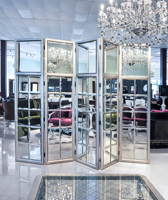 Mirror Room: Room Divider Folding Mirror Screen