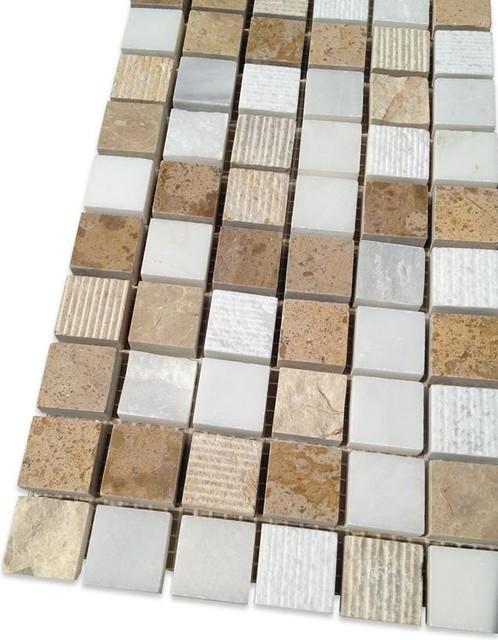 Sample Esker Navajo Sand Squares Marble Tile Traditional