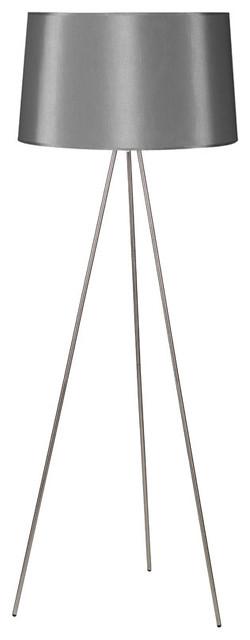 Weegee Floor Lamp, Platinum Silk Glow modern-floor-lamps