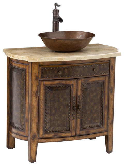 Rustico Vessel Sink Chest Traditional Bathroom