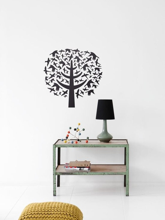 Ferm Living Bird Leaves WallSticker - Ferm Living Bird Leaves WallSticker