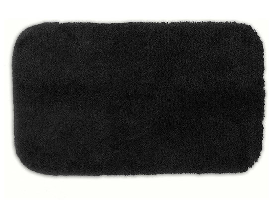 "Sands Rug - Posh Plush Onyx Washable Bath Rug (2'6"" x 4'2"") - Revel in spa-like luxury every time you step into your bath with the Posh Plush collection of bath rugs. The amazingly soft, yet durable, nylon plush is machine washable, and each floor piece has a non-skid latex backing for safety."