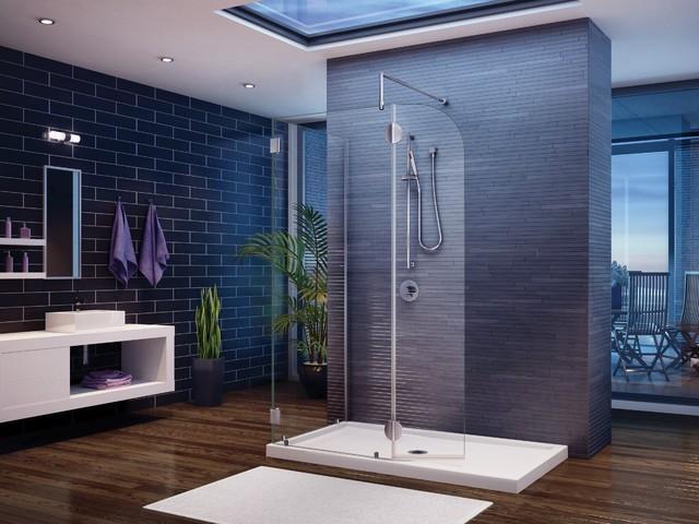 Fleurco Evolution 4' and 5' Round Walk-In Shower System V4301 modern-showerheads-and-body-sprays
