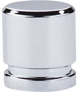 """Small Oval Knob 1"""" - Polished Chrome modern-cabinet-and-drawer-knobs"""