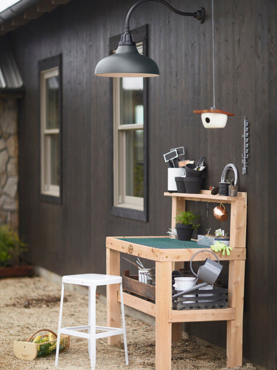 Rejuvenation: Exterior Lighting & Accessories - Our Potting Bench makes the perfect addition to any garden or outdoor space.